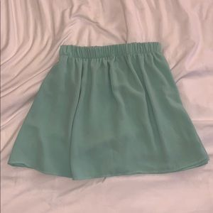 Brandy Melville mint green flowy skater skirt